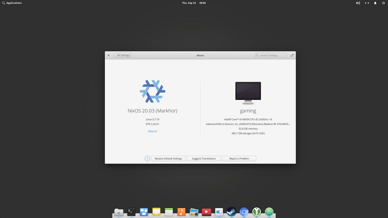 NixOS with Pantheon desktop from elementary OS