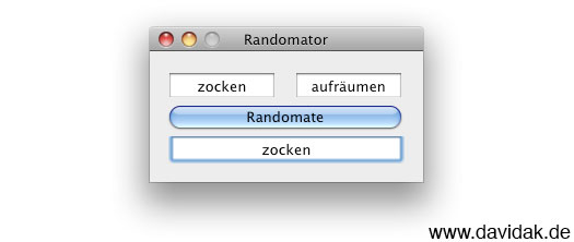 Randomator - OpenSource App - Screenshot by davidak.de